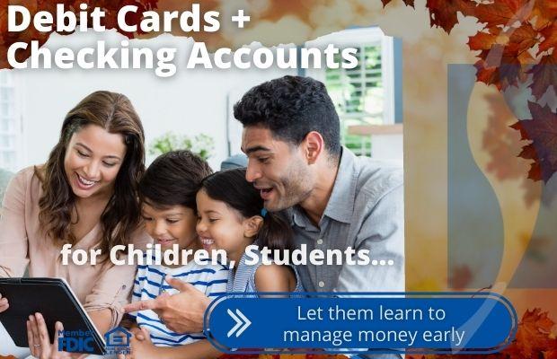 student checking and kids debit cards seneca savings