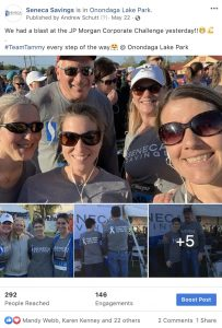 Seneca savings jp morgan corporate challenge 2019